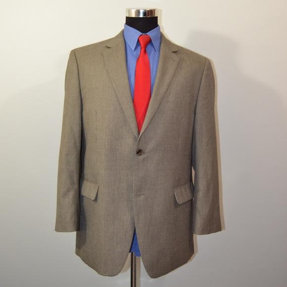 Izod Other - Izod 44R Sport Coat Blazer Suit Jacket Beige Black